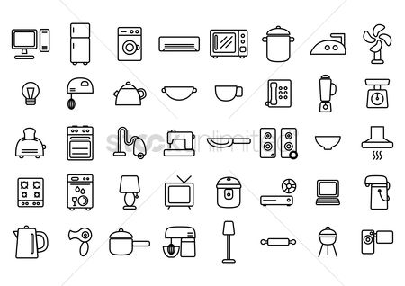 Washing machine : Home appliance icons