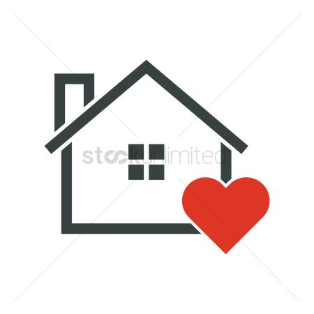 Favourites : Home with heart symbol