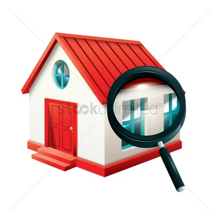 Researching : Home with magnifying glass