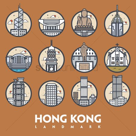 Towers : Hong kong landmark set