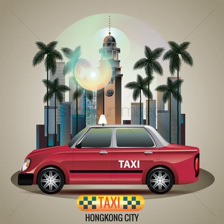 Taxis : Hongkong city taxi