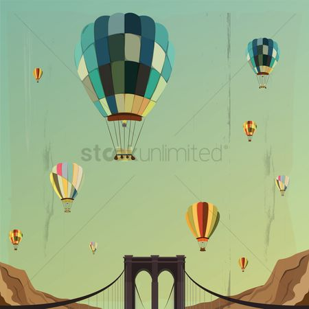 Mountain : Hot air balloons