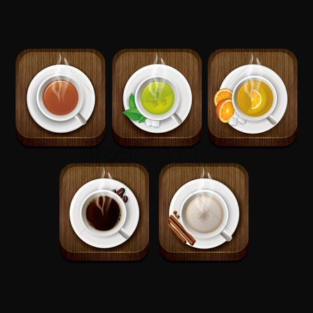 Coffee cups : Hot tea and coffee