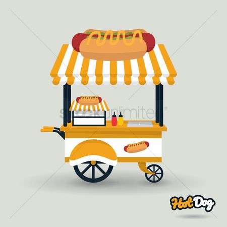 Food cart : Hotdog cart