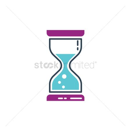 Sand clock : Hourglass icon