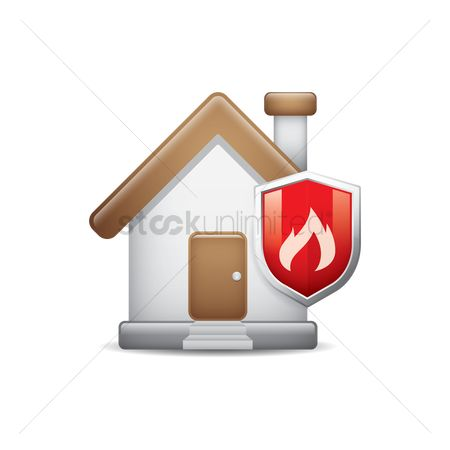 Warm : House with fire shield