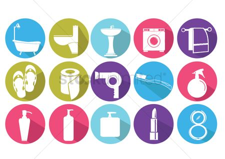 Cosmetic : Household  body care and cosmetic icons