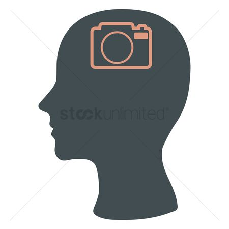 Snaps : Human head silhouette with a camera