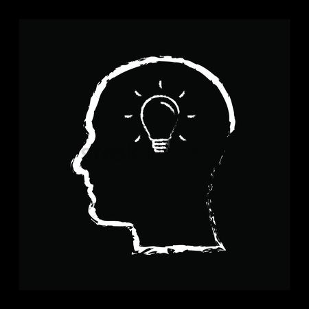 Filament : Human head with bulb