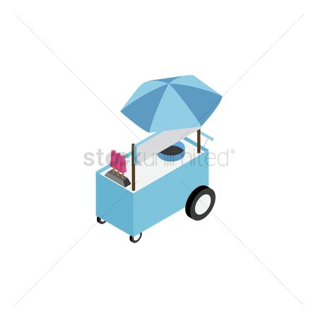 Food cart : Ice cream cart