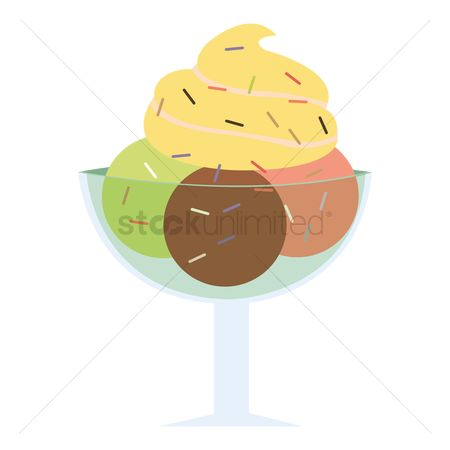 Flavor : Ice cream in sundae cup