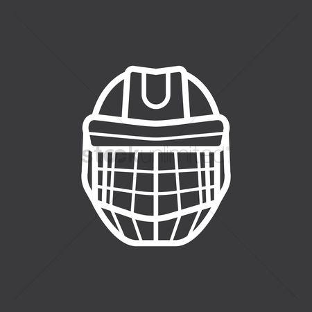 Free Goalie Mask Stock Vectors Stockunlimited
