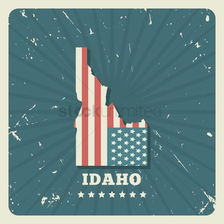 Oldfashioned : Idaho map