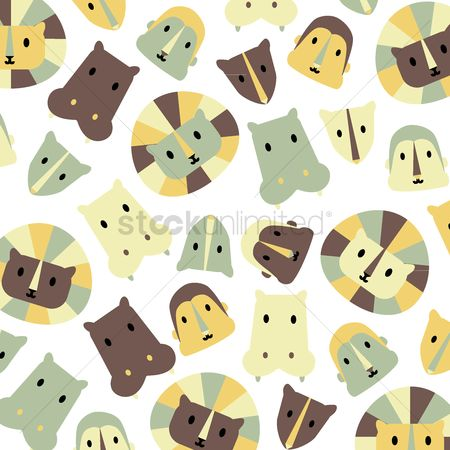Background : Illustrated cartoon animal print background