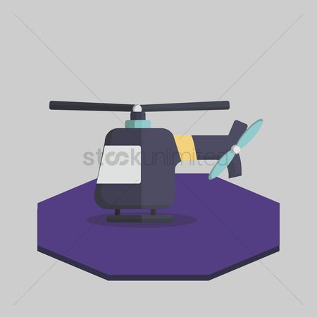 Helicopter : Illustration of a helicopter