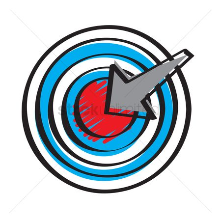 Dartboard : Illustration of a target and arrow