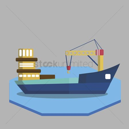 Vessel : Illustration of fishing boat