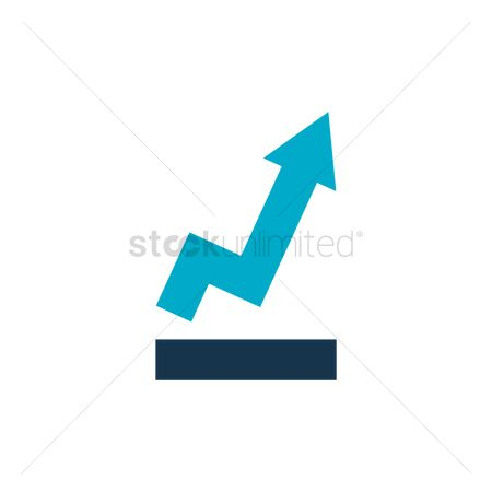 Increase : Increasing arrow icon