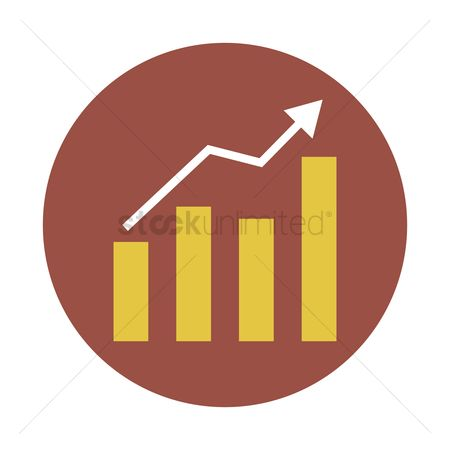 Increase : Increasing bar graph icon