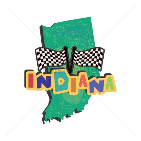 Auto racing : Indiana state map