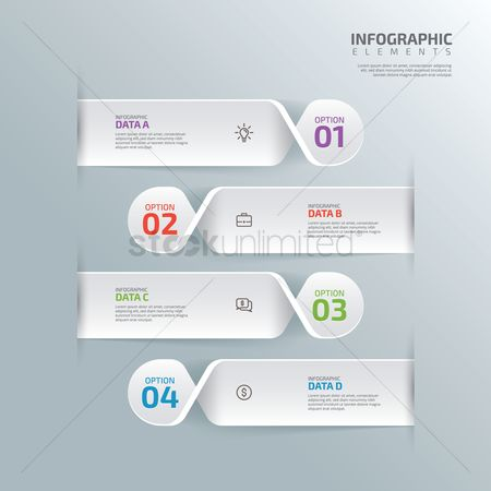 Copy space : Infographic design elements