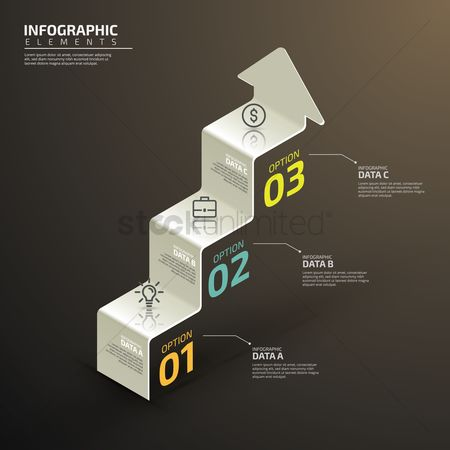 Copy spaces : Infographic design elements