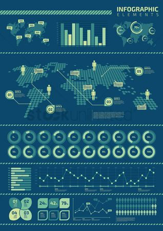 Map pointer : Infographic design elements