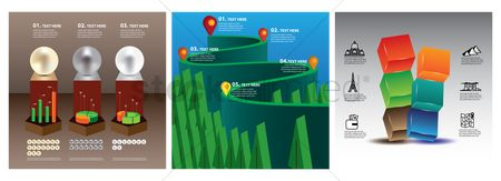 Map pin : Infographic elements icons
