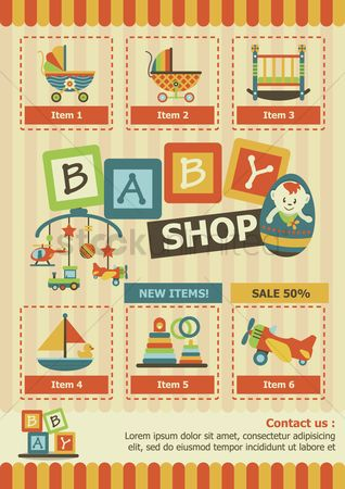 Blocks : Infographic of a baby shop