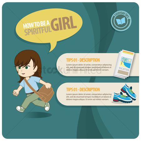 Tips : Infographic of a spiritful girl