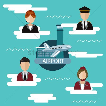 Aeroplanes : Infographic of airport jobs