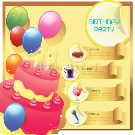 Microphones : Infographic of birthday party