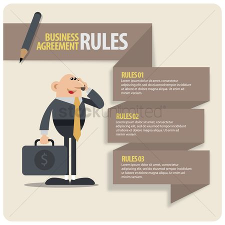 Briefcases : Infographic of business agreement