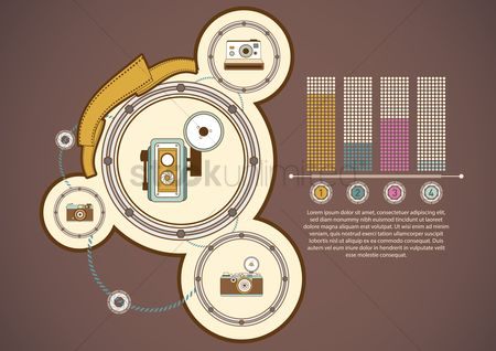 Photography : Infographic of vintage technology