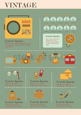 Tv : Infographic of vintage
