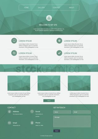 Copy space : Infographic of website
