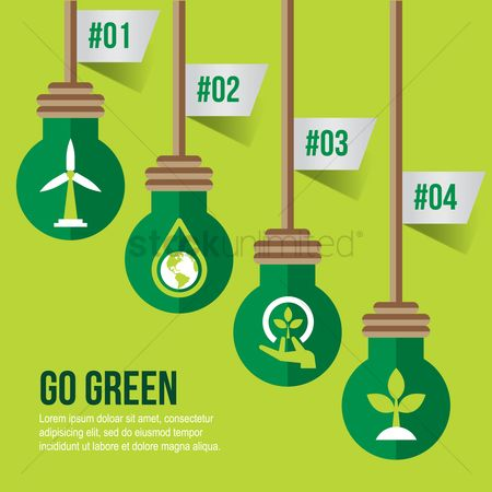 Drips : Infographic on go green