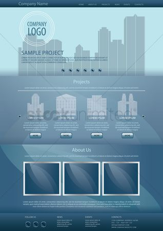 Architectures : Infographic template design