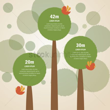 Save trees : Infographic template with tree element