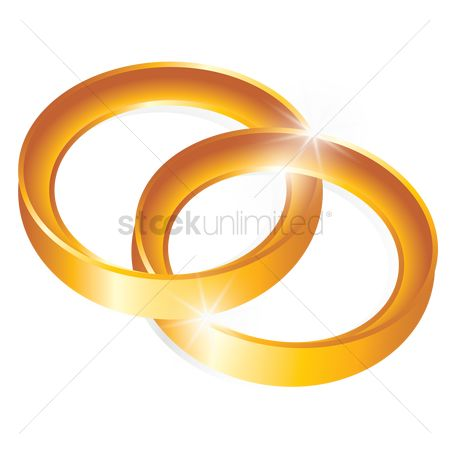 Engagements : Interlocked gold rings