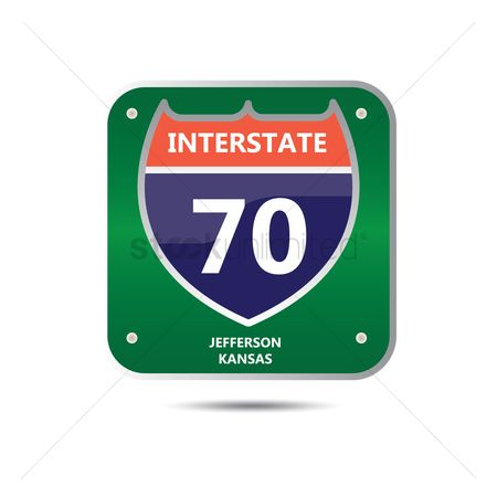 Kansas : Interstate seventy route sign