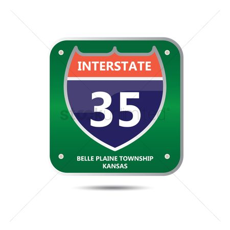 Interstates : Interstate thirty five route sign
