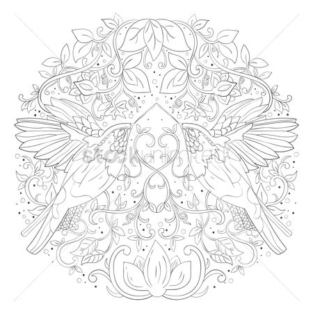 Budding : Intricate birds design