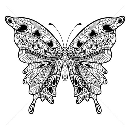 Pattern : Intricate butterfly design