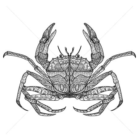 Seashore : Intricate crab design