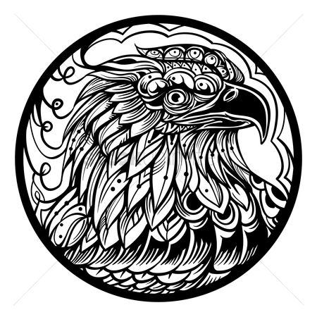 Head : Intricate eagle design