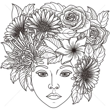 Sketching : Intricate flower hat