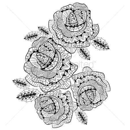 Linear : Intricate roses design
