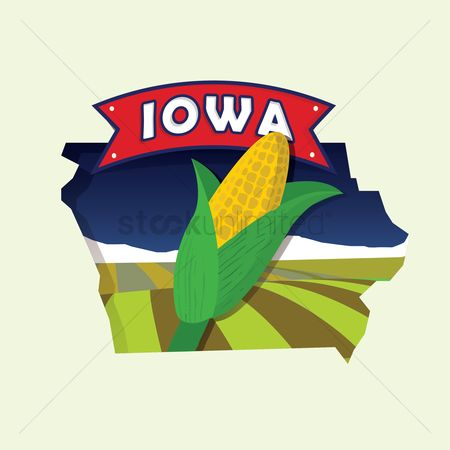 Cartography : Iowa map