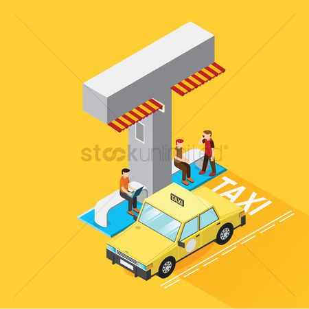 Taxis : Isometric alphabet t